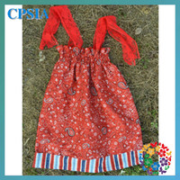 Wholesale Hot baby girls dress baby boutique kid clothes cotton girls dresses