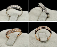 Wholesale New Austria swarovski Crystal Rings Single row the small female gilded crystal small tail ring rings