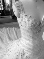 Wholesale 2013 ball gown cup shoulder beadings crystals long train empire wedding dresses