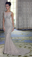 Wholesale 2013 New Sexy Silver Sleeveless Mermaid Evening Dress Stunning Beaded Crystal Tulle Dresses EM01