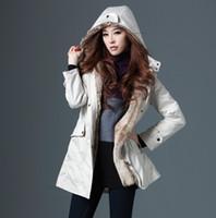 Wholesale Upgrades New Winter With Faux Fur Lining Women s Coat Outerwear de unloading liner women trench coat