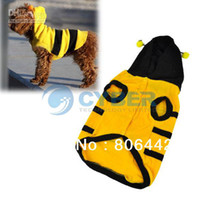 Wholesale Pretty Pet Cats Dogs Clothes Apparel Mark Summer Bee T shirt Hoodies