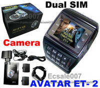 Wholesale New AVATAR ET Watch Mobile Phone Quadband Dual SIM Dual Standby Camera Bluetooth FM GSM Unlocked