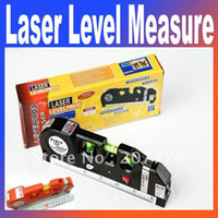 Wholesale 3n1 Aligner Horizon Vertical Laser Levels Measure Tape CM Retail box MYY2835