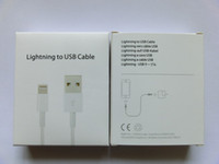 Wholesale 1 iPhone5 USB Data Cable for g s iphone5 pins white with retail packing free DHL