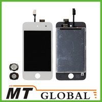 Wholesale For iPod Touch LCD Display amp Touch Screen Digitizer amp Home Menu Button for iPod Touch Replacement White Color High Quality