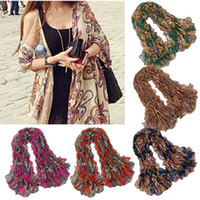 Wholesale 10 Vintage Ladies Pashmina Totem Flowers Scarf Shawl Wrap