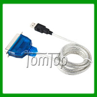 Wholesale Universal USB to Pin Parallel IEEE Printer Cable Adapter For VIA DHL