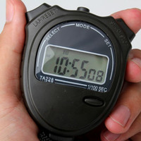 Wholesale 100 Sport Digital Timer Counter Cute Chronograph Electronic Stopwatch New