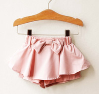 Wholesale Girls Korean Shorts Lovely Bowknot Culottes Shorts Children s Clothing