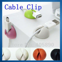 Wholesale New Multi purpose Cable Clip Colorful Silicone Cord Drop Good Quality