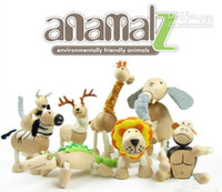 Wholesale Maple animal Anamalz organic maple animal wooden dolls farm educational toys wildlife retail sell