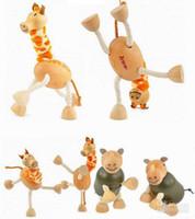 24 animals farm animals toys - Anamalz Maple Wood Moveable Animals Toy Farm Animal Wooden Zoo Baby Educational Toys handmade animals