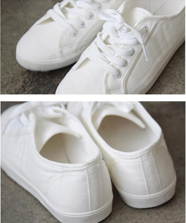 2013new Women's Classic canvas shoes white Free shipping 20pcs