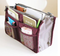 Wholesale Women Insert Purse Cosmetic Storage Organizer Bag Handbag Makeup Tidy Travel