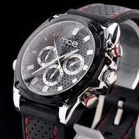 Wholesale New Arrival Black PU Leather with three small clock New Brand MCE Mechanical Watch