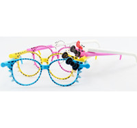 Wholesale of Glasses Ball Point Pen SUNGLASSES SHAPED Dollhouse miniature Toy Promotion Gift BP017