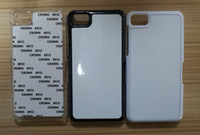 Wholesale Z10 PC sublimation case for BB Z10 PC hard plastic sublimation case for Z10 DHL free