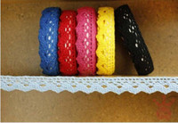 Wholesale Lovely Fabric Tape - Lovely self-adhesive Decoration cotton Single side Lace Tape Adhesive Fabric lace Tape