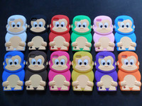 Wholesale 3D Cartoon Monkey Silicon Skin Case Cover for iPodTouch G TH