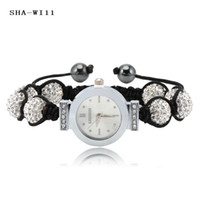Wholesale Hot sale Crystal Disco Ball Clarity Shamballa Watch Bracelet amp Bangles SHA WIS11