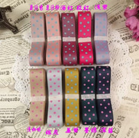 Wholesale 6 off new arrival cheap mm cm dot grosgrain ribbon Wedding Gift Satin Ribbon Craft meter