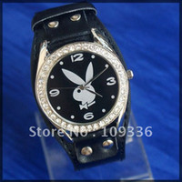 playboy watches - Fashionable classical fashionable Playboy watch quartz lady CRISTAL wrist watches