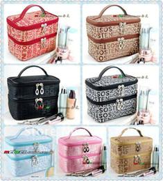 Double Layered character Women Zipper Cosmetic Case Bag Makeup Purse