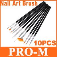 Wholesale 3sets Black Nail Painting Art Brush Set Dropshipping