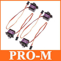 Wholesale 4pcs MG90 Gear Micro Servo for RC Helicopter Plane Boat Car Horns
