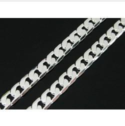 HOT~ Factory price Fashion 30inch 5mm silver chain necklace jewellery for men top quality free shipp cheap top anniversary gifts for men from top anniversary gifts for men suppliers