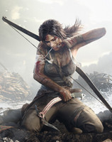One Panel animal wounds - Tomb Raider Cover Lara Bow Wounds Game quot x quot Silk Poster