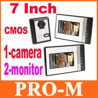 Wholesale 7 Inch Video Door Phone Doorbell Intercom Kit camera monitor Night Vision EMS Free Dropshipping