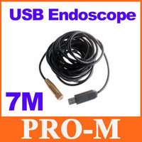 Wholesale 7m ft Waterproof USB Endoscope Borescope Inspection Camera Adjustable Focal Length Dropshipping
