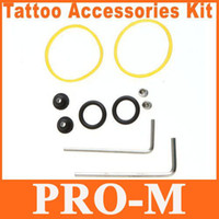 rubber o ring - 10sets Tattoo Accessories Kit Rubber Bands Grommets O rings Allen Wrenches Screws H8776