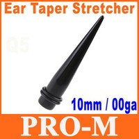 Wholesale 15pair Single Black Acrylic Ear Expander Taper Plug Stretcher g mm Ear Plug