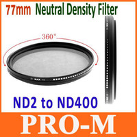 Wholesale 77mm Fader Neutral Density Filter ND2 to ND400 Adjust Sony Nikon Camera Drop Shipping