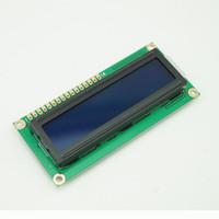 al por mayor pantallas lcd de caracteres-Escudo LCM 1602 HD44780 16X2 162 de la exhibición del módulo del LCD del carácter de 10PCS / lot 5V Backlight azul # BV060 @CF