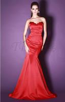 Wholesale 2013 Elegant Fashion Asymmetrical One Shoulder Mermaid Trumpet Court Charmeuse Celebrity Dresses