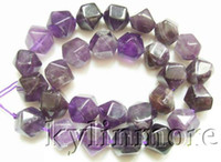 Crystal amethyst nugget beads - 8SE05967a MM Amethyst Faceted Nugget Beads