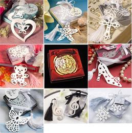 Copos de nieve Marcadores Suministros de la boda en forma de corazón Colgante Regalos Tassel Wedding Favors