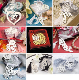 Wholesale Snowflake Bookmarks Wedding Supplies Heart shaped Pendant Gifts Tassel Wedding Favors