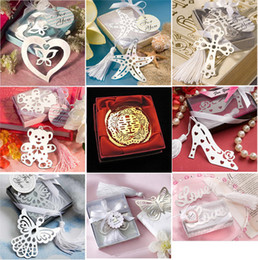 Wholesale Butterfly Bookmarks Wedding Supplies Bear Pendant High heeled Shoes Gifts Notes Tassel Wedding Favor