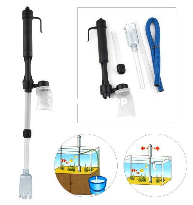 2017 siphon aquarium auto fish tank vacuum gravel water for Fish tank siphon