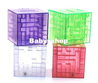 Wholesale Transparent Maze Piggy Bank Educational Coin Box Kids amp Adult Novelty Toy