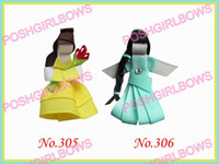 Wholesale popular character hair bows girl clips popular girl baby hair bow clips