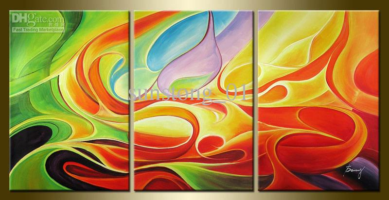 Modern Abstrct Group Art Painting Home Decorative Abstract Art Morden Impression Canvas Paintings Group Oil Painting Classical Art Painting Handmade Oil