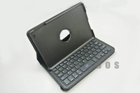 Wholesale Wireless Bluetooth Keyboard with Leather Case Cover Degree Rotating for ipad mini