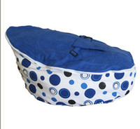 Wholesale blue dots doomoo baby bean bag baby seat baby chaie