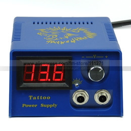 Wholesale 1 pc Tattoo Power Supply Gy001 Blue Manostat for Permannet Tattoo machine Gun LCD display